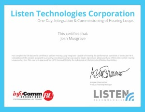 Listen Technolgies Corp Certification